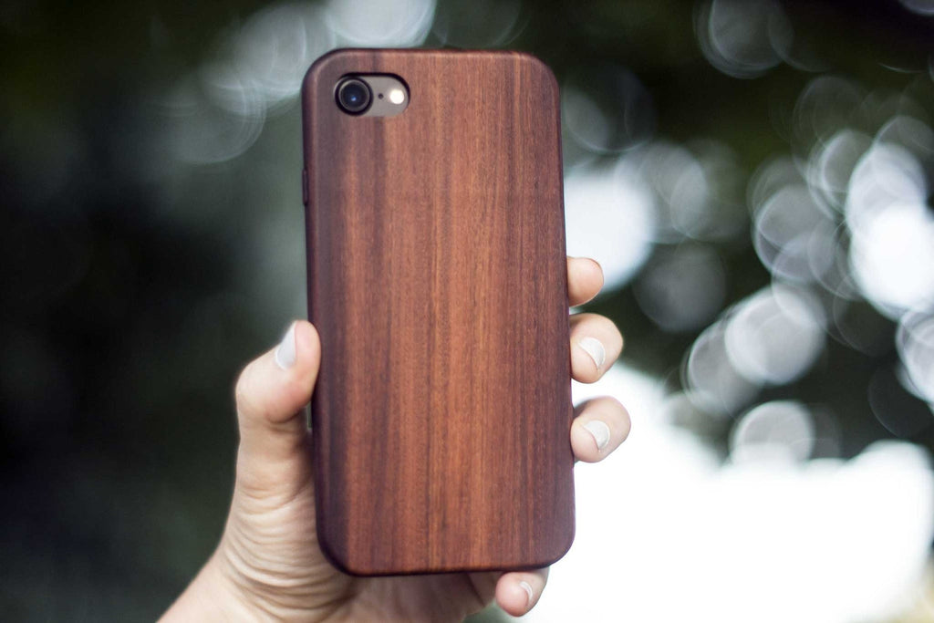 Wood iPhone 7 Case - Bulletwood - Front outside - KerfCase - Lifestyle