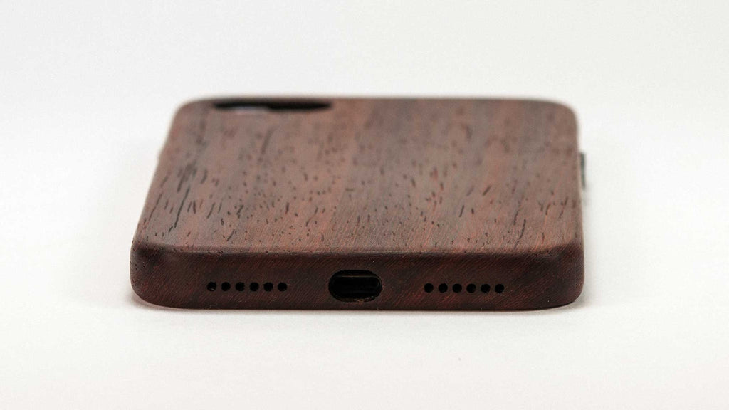 wood iPhone 7 Case - padauk - end view studio - lifestyle
