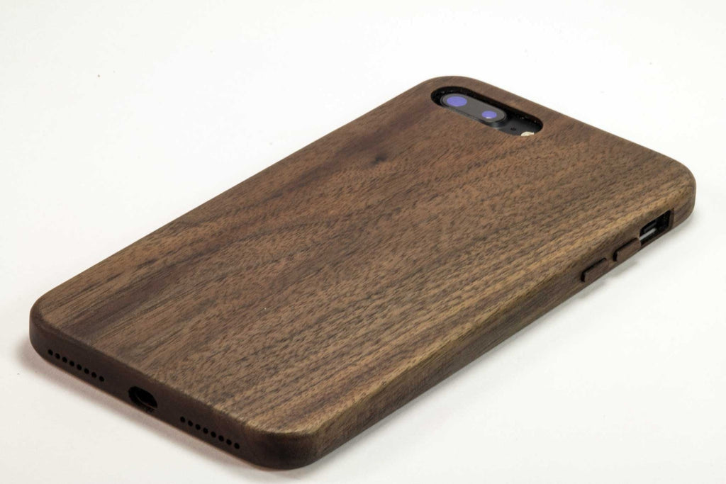 Wood iPhone 7 Plus Case - walnut wood - bottom view studio 2 -  Kerfcase - Lifestyle
