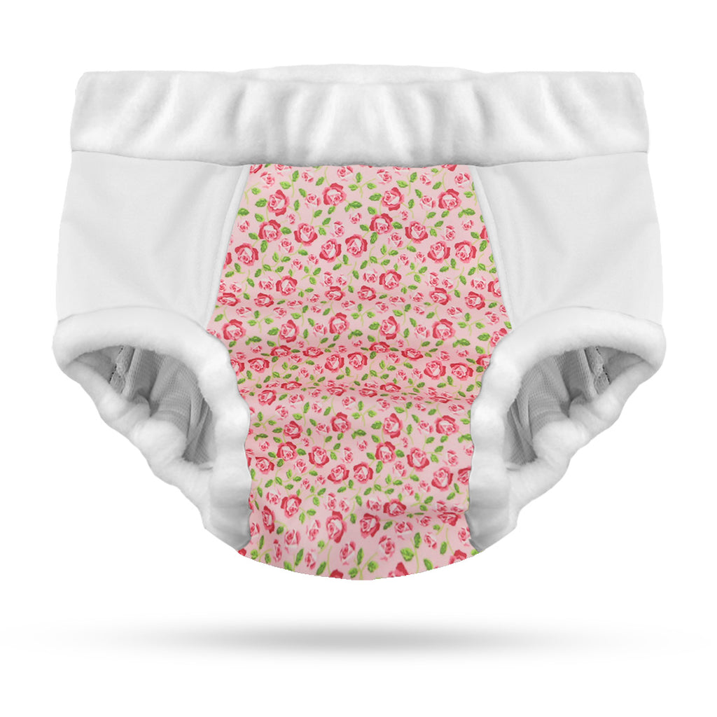 Adult Nighttime Undies; Rose - Small