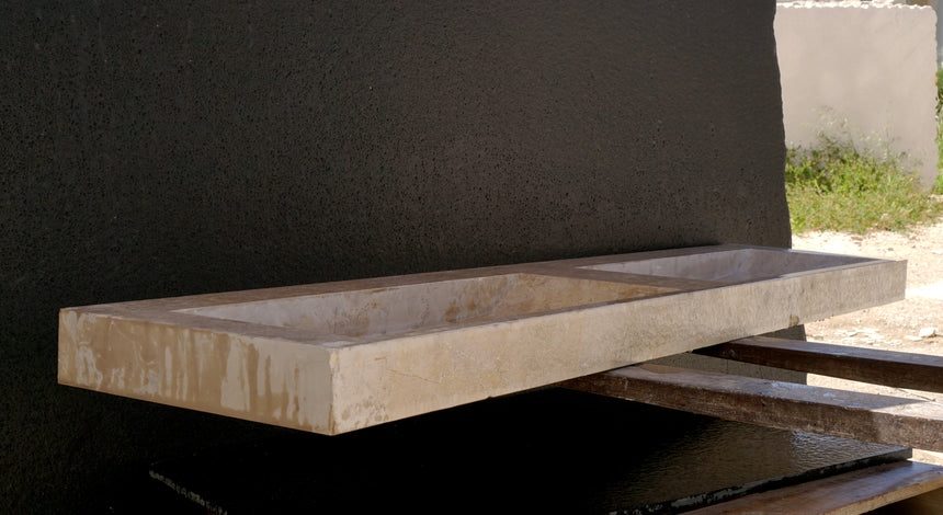 PARPAL Wall-hung washbasin. 220x47x10 cm