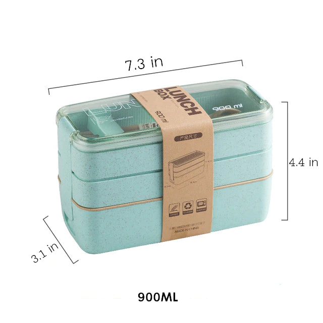 Wheat Straw Lunch Box | Portable Food Container