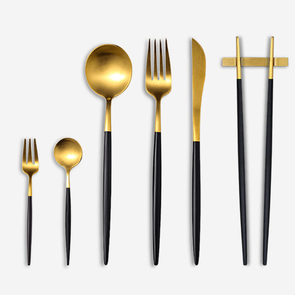 Silverware-flatware-steel-Dinnerware-Set-Luxury-Wedding -Event-Use-Service-Knife-Fork-Spoon-utsensil-Cutlery -tableware