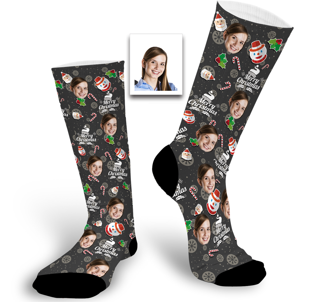 Christmas Gift Custom Face Socks