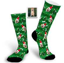 Load image into Gallery viewer, Christmas Gift Custom Face Socks (Dog)