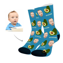 Load image into Gallery viewer, Custom Face Socks With Avocado