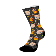 Load image into Gallery viewer, Custom Cat Face Socks