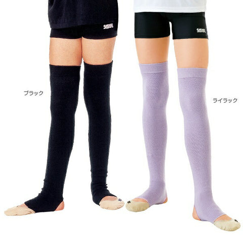 SASAKI Sasaki Junior/Children's Over Knee Leg Warmer Junior (footrest type) [rhythmic gymnastics goods/rhythmic gymnastics equipment]