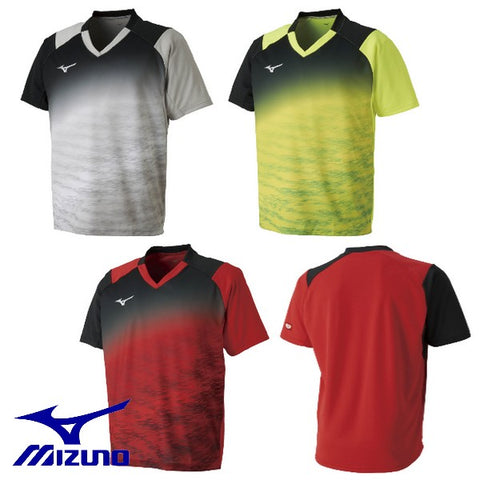 MIZUNO table tennis uniform short-sleeved shirt game Table Tennis wear