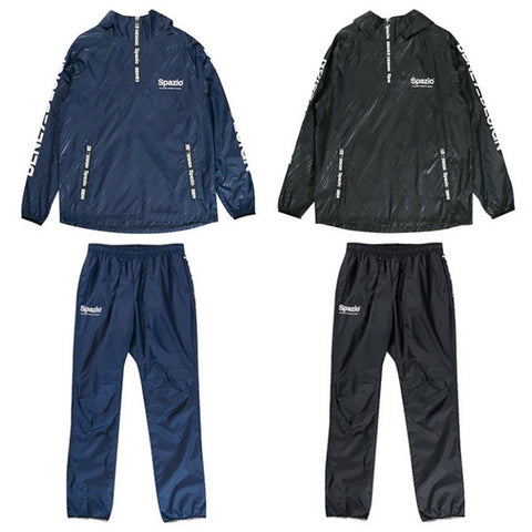 Spazio Piste Parker embossed back mesh half zip top and bottom set futsal Hardware
