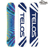 TELOS snowboard CHILLUM TWIN FREESTYLE Chiramutsuin freestyle BLUE 18/19 plate