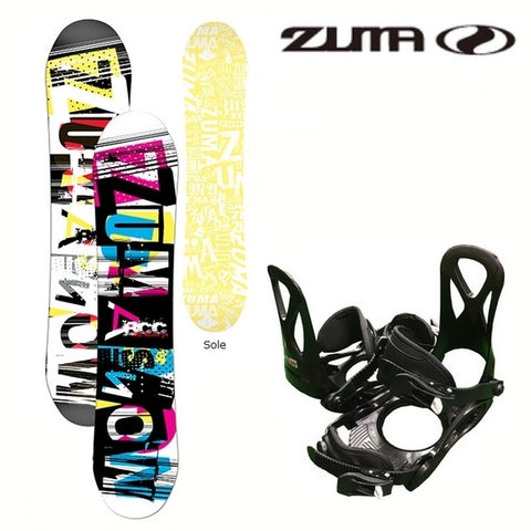 ZUMA Junior snowboard binding 2-piece set Mt.Rider Jr plate