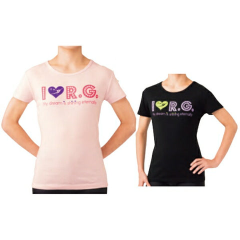 SASAKI I LOVE R.G. Ladies T-shirt [Rhythmic gymnastics wear/Rhythmic gymnastics equipment]