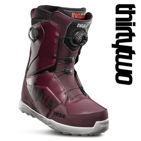 thirtytwo boots LASHED DOUBLE Boa Maroon / Black / White 19/20 snowboard 32