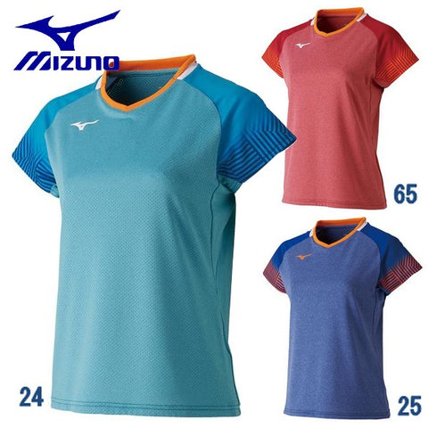 MIZUNO Table Tennis Women's Uniform short sleeve game shirt table tennis wear