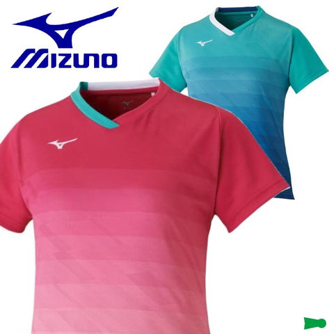 MIZUNO Ladies short-sleeved shirt game uniforms tennis soft tennis badminton wear