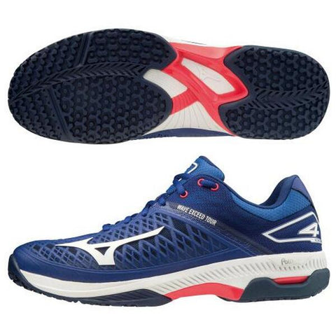 Mizuno tennis shoes Wave Exceed tour 4 OC MIZUNO clay-containing sand for artificial grass courts 61GB207220