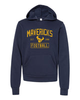 - YOUTH Hoodie Sponge Fleece Hoodie with Mavericks Football Est 1996:Navy