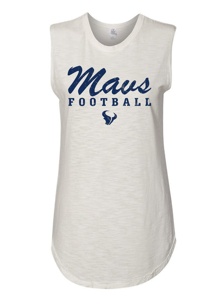 - Ladies Tank Top Maverick Football: White
