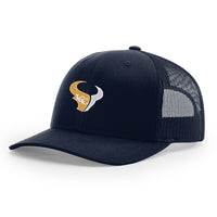 - Hat Classic Trucker (Non Flat Bill) Navy on Navy (112)