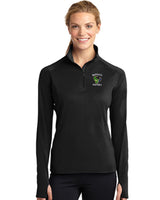 - Jacket Ladies Sport-Tek Sport Wick 1/4 Zip Pullover |  Maverick Football EMB /  Black