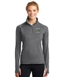 - Jacket Ladies Sport-Tek Sport Wick 1/4 Zip Pullover |  Maverick Football EMB /  Charcoal Grey Heather