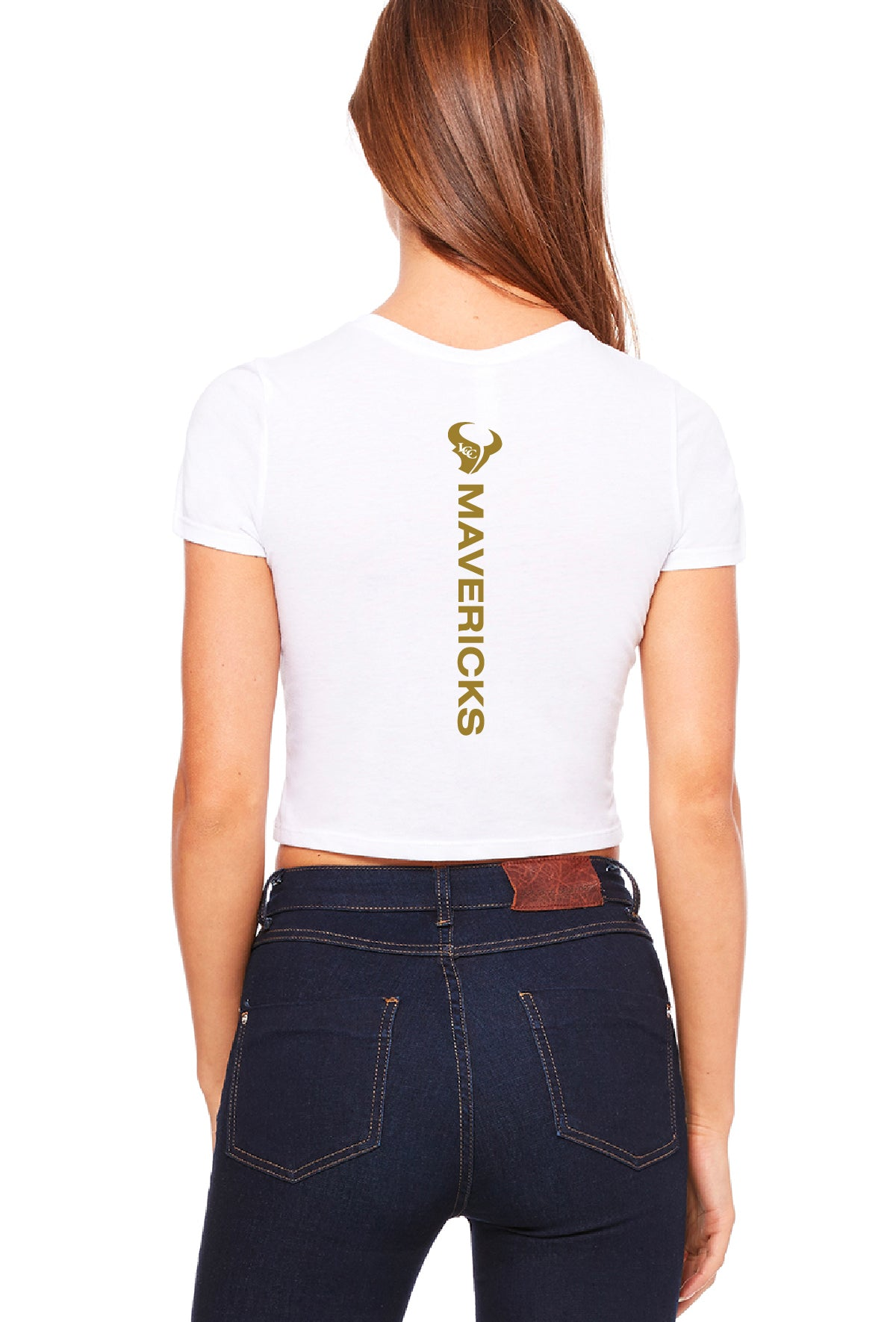 White Out Mavericks Juniors Style Crop Tee