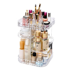 Square Diamond Rotating Cosmetics Organizer