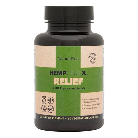HempCeutix Relief 5mg CBD Capsules (6 Pack) Bottle
