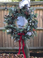 Load image into Gallery viewer, 7th December 12 inch Ready Made Christmas Door Wreath