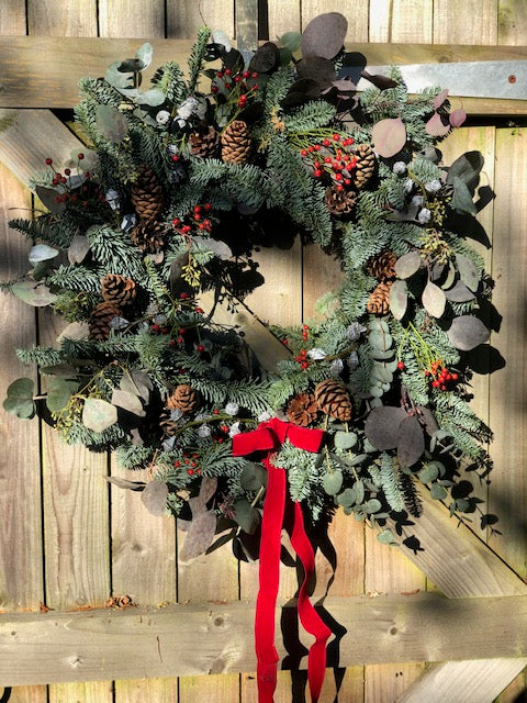7th December 12 inch Ready Made Christmas Door Wreath