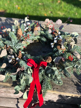 Load image into Gallery viewer, 30th November 14 inch Ready Made Christmas Door Wreath