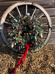 7th December 14 inch Ready Made Christmas Door Wreath