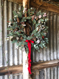 30th November 12 inch Ready Made Christmas Door Wreath