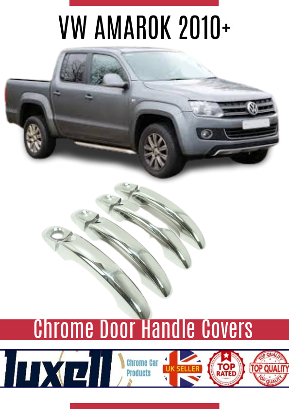 VW AMAROK 2010Up Chrome Door Handle Cover 4Door S.Steel