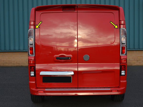 RENAULT TRAFIC 2015UP ABS Chrome Rear Lamp Rim Cover 2PCS