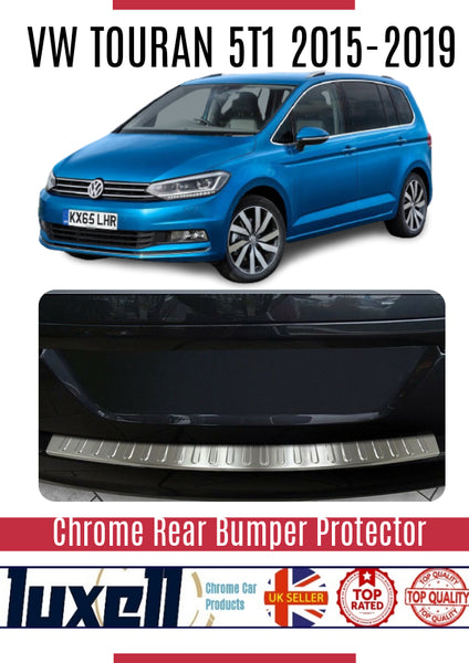 VW Touran 5T1 2015Up Chrome Rear Bumper Protector Scratch Guard S.Steel