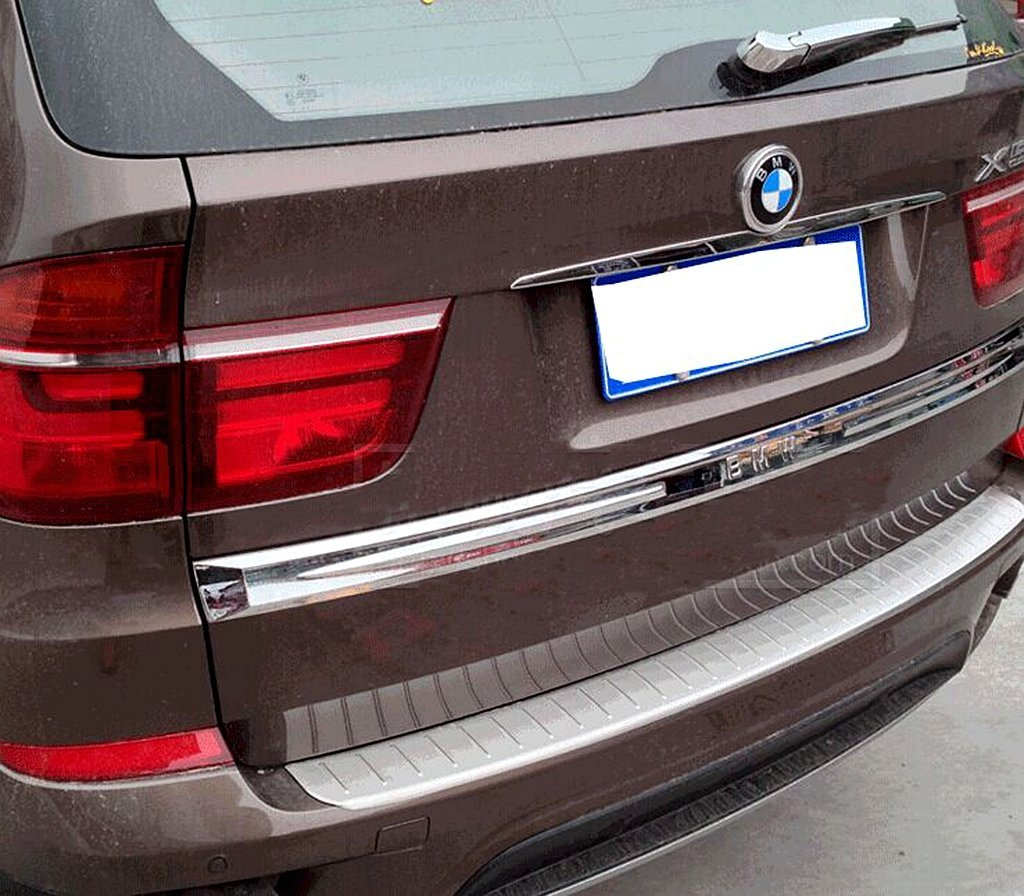 Bmw X5 E70 2006-2013 Chrome Rear Bumper Protector Scratch Guard S.Steel