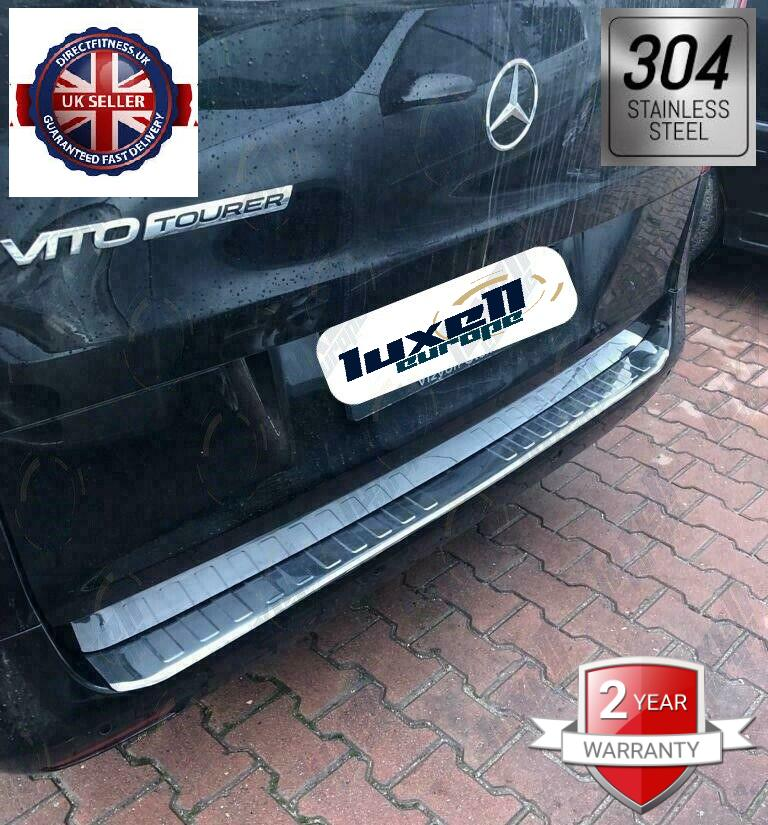 2014+M.Benz Vito W447 /Vito Taxi W447 Chrome Rear Bumper Protector Guard S.Steel