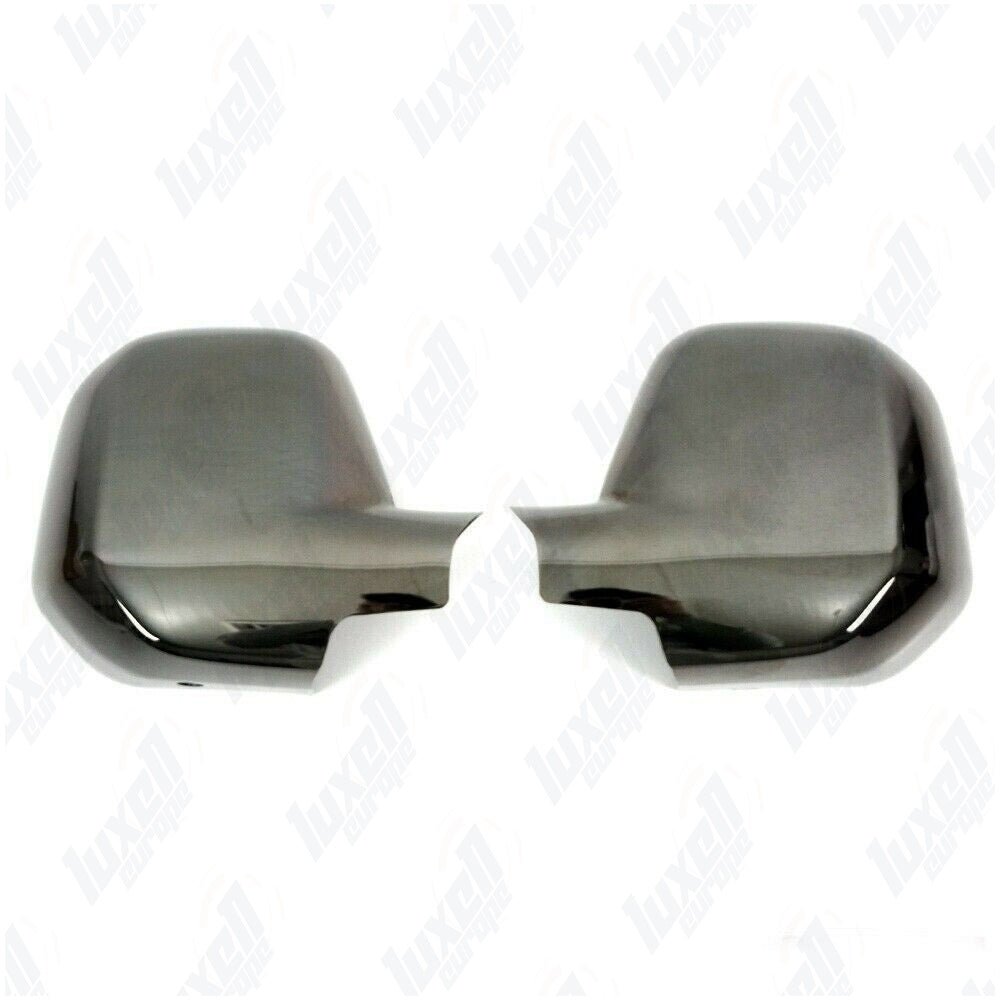 08-2012Citroen Berlingo Peugeot Partner Tepee Abs Black Chrome Mirror Cover 2Pcs