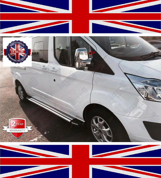 2012Up Ford Transit Custom Tourneo Abs Chrome Wing Mirror Cover 2Pieces