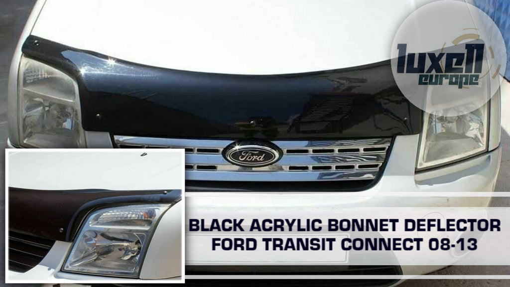 FORD TRANSIT CONNECT 2008-13 BONNET WIND STONE DEFLECTOR PROTECTOR NOTBONNET BRA
