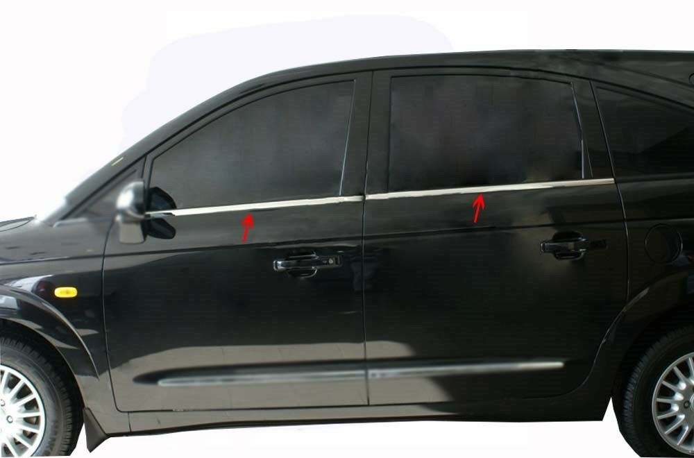 2008UP Ssangyong Actyon Sports Chrome Windows Frame Trim 4 Door 4Pcs S.Steel