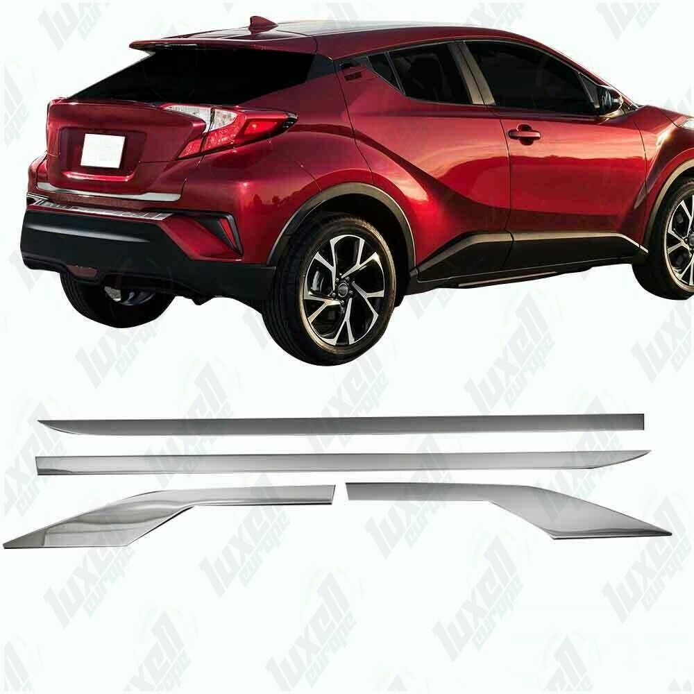 2016Up Toyota CHR Chrome Side Door Streamer 4Door 4Pcs S.Steel