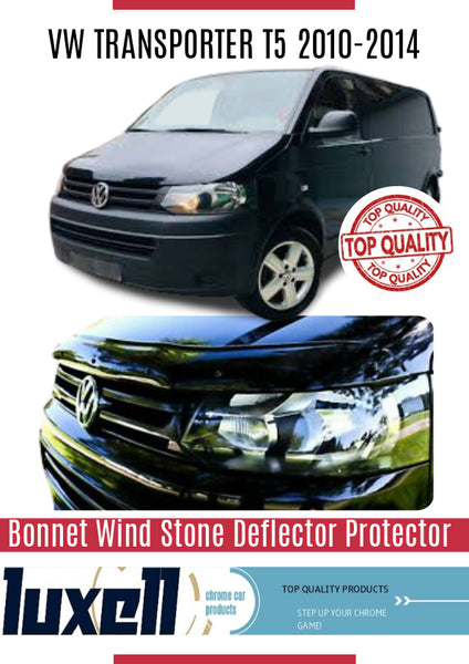 VW T5 TRANSPORTER 2010-2014 BONNET WIND STONE DEFLECTOR PROTECTOR NOT BONNET BRA