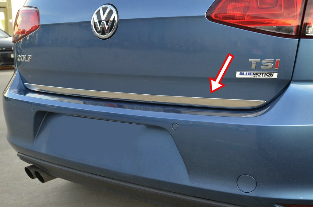 2013-2018 VW GOLF MK7 HB Chrome Rear Trunk Tailgate Lid Molding Trim S.Steel