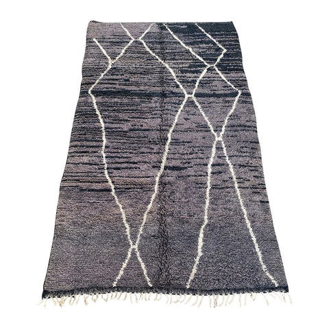 Contemporary Moroccan Beni Ourain rug in charcoal gray