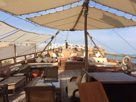Le Dhow Cafe on boat