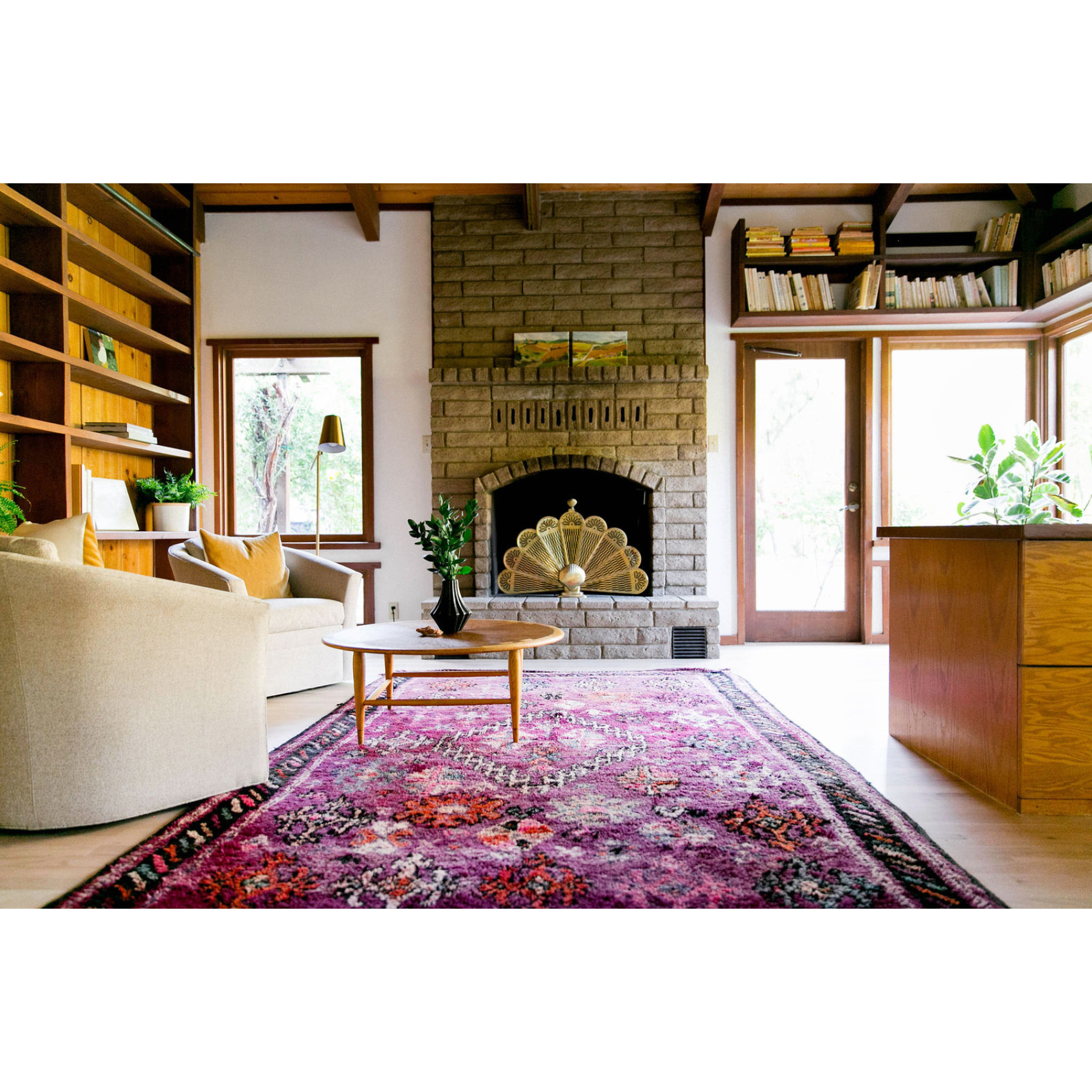 KATYA - Purple Moroccan area rug