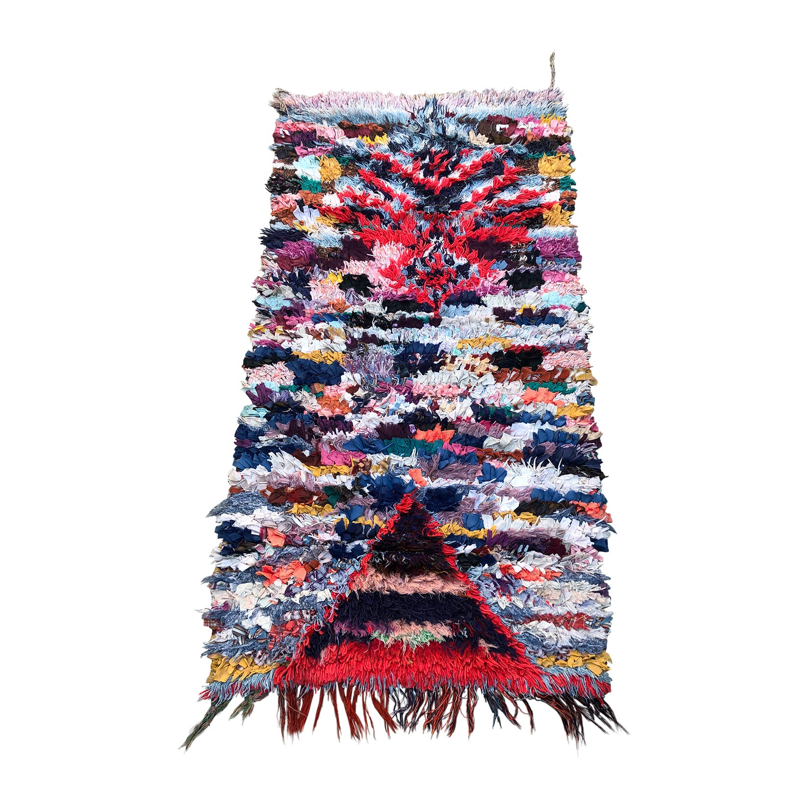 CAID - Lively Boucherouite Rag rug - Kantara | Moroccan Rugs